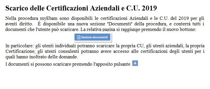 Certificazioni Aziendali e C.U. 2019